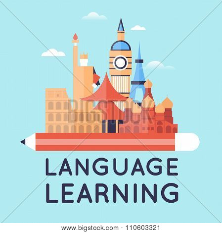 Learning languages.