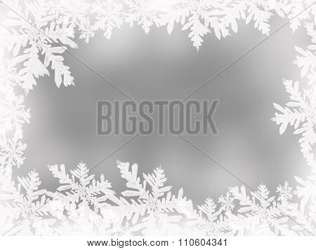 Abstact Sparkle Christmas Background With Snowflakes And Star And Space For You Design