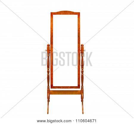 Floor Wooden Frame Mirrors