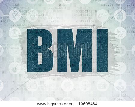 Medicine concept: BMI on Digital Paper background