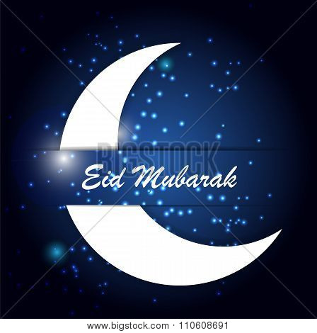 Moon Background for Muslim Community Festival Vector Illustratio
