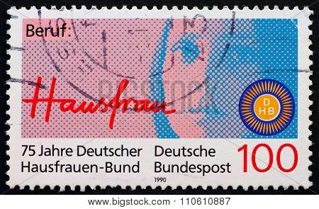 Postage Stamp Germany 1990 Portrait Of Woman