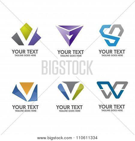 modern letter v logo