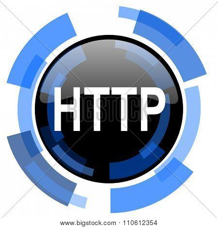 http black blue glossy web icon