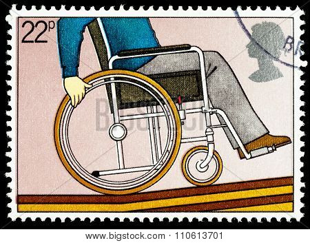 Britain Wheelchair Disability Postage Stamp