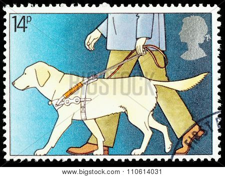 Britain Guide Dog Postage Stamp