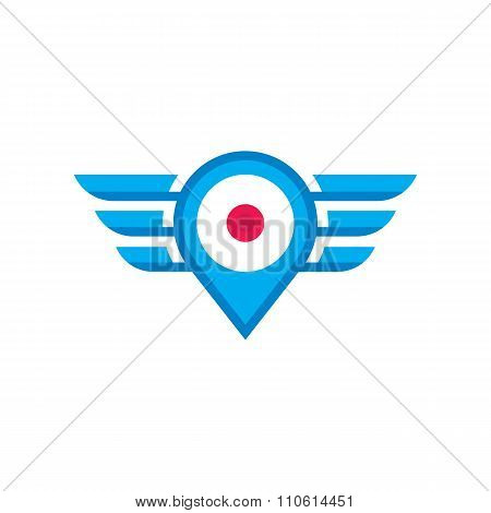 Location vector icon sign.