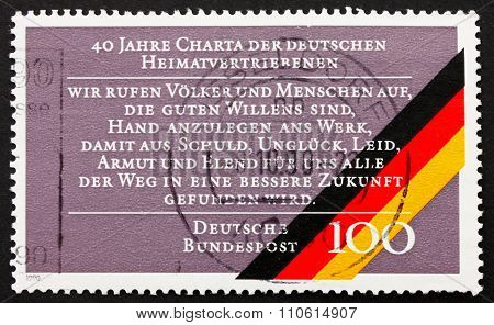 Postage Stamp Germany 1990 Charter Of German Expellees