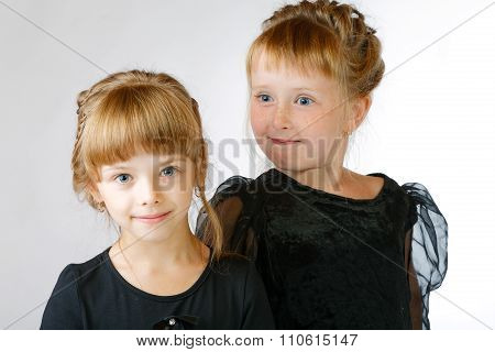 Two Girls Grimace Studio
