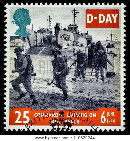 Britain D-Day Anniversary Postage Stamp