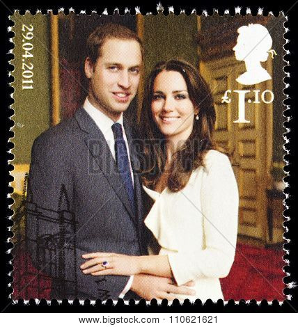 Prince William and Kate Middleton Wedding stamp