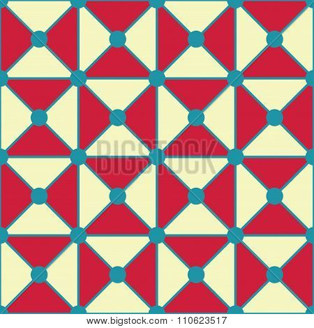 Vector modern seamless colorful geometry triangles dots pattern color red white abstract