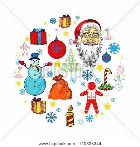 Christmas Illustration For Banner, Flyer