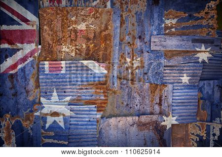 Corrugated Iron Australia Flag