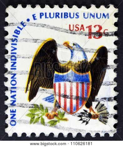 Eagle on a usa stamp