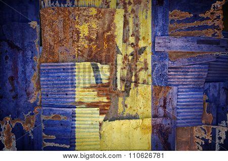 Corrugated Iron Barbados Flag