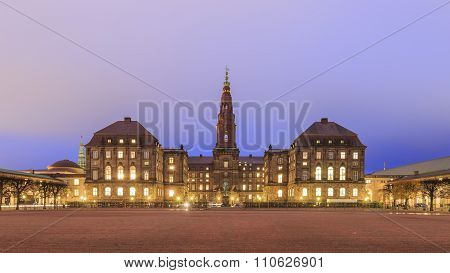 The Famous Christiansborg Slot In Copenhagen, Denmark