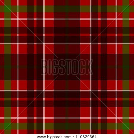 Vector seamless scottish tartan pattern in red black white and green