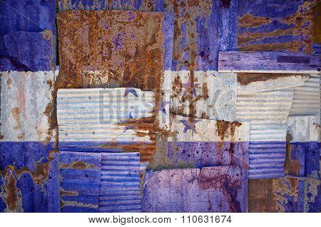 Corrugated Iron Honduras Flag
