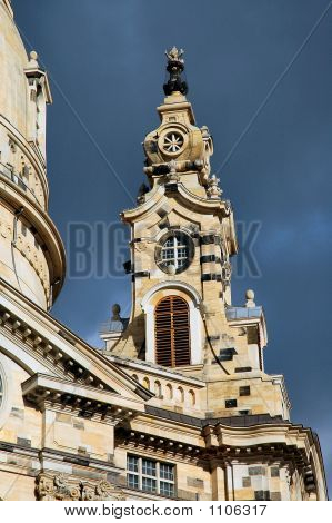 Frauenkircke Steeple In Dresden, Germany