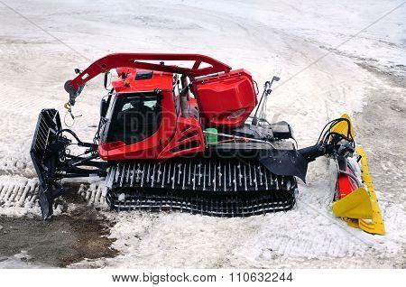 Snowcat On Snow