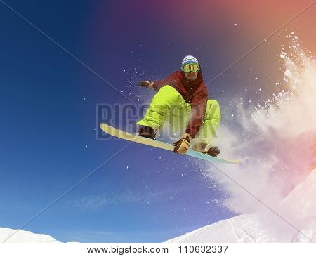 Snowboarder In Mountain