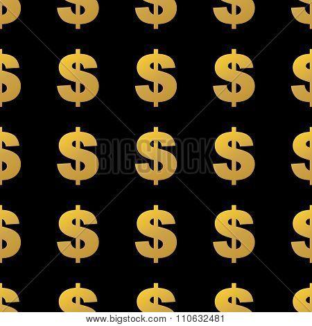 seamless pattern gold dollar