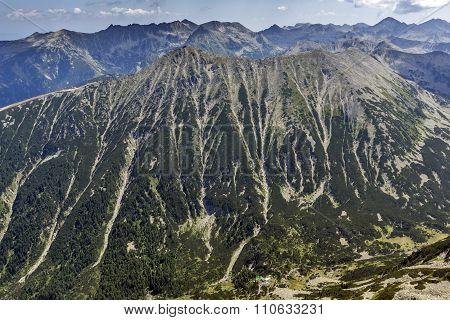 Green hills of Todorka peak, Pirin Mountain