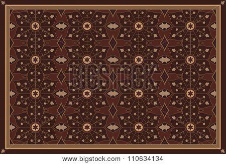 Floral Wooden Arabesque Pattern Background