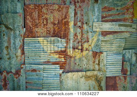 Corrugated Iron Mauritania Flag
