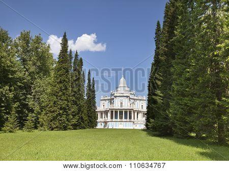 Waterslide pavilion. Oranienbaum (Lomonosov) . Upper park.
