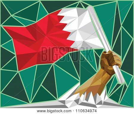 Raising The Bahrain Flag - National Day Celebration