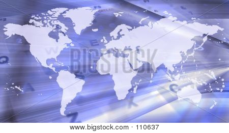Abstract World Map - Technology