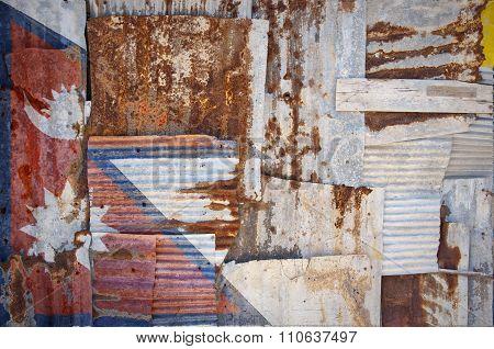 Corrugated Iron Nepal Flag