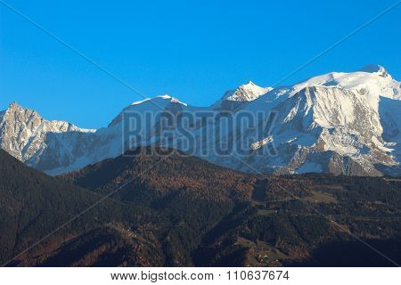 Massif Mont - Blanc In Autumn