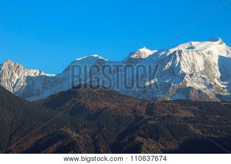 Massif Mont - Blanc In Autumn