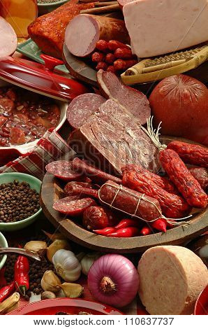 Feijoada sausage Brazilian typical Food