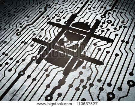 Law concept: circuit board with Criminal Freed