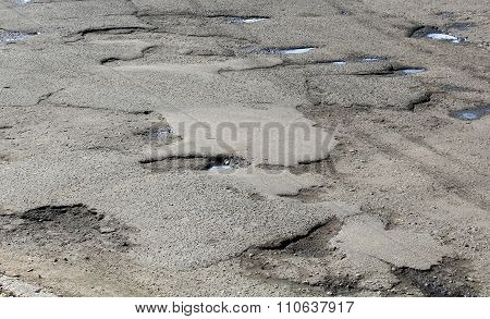 Large Pits With Asphalt