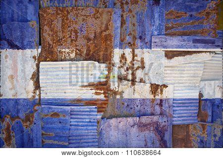 Corrugated Iron Nicaragua Flag