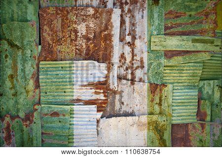 Corrugated Iron Nigeria Flag