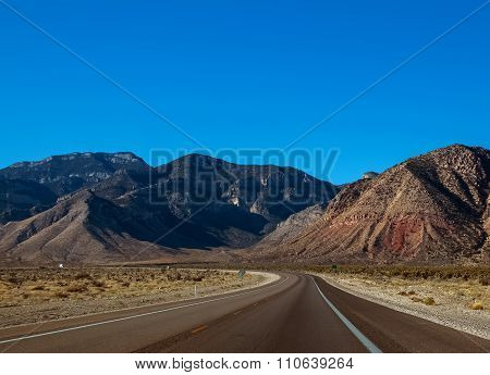 Lonely Road In A Sunny Day