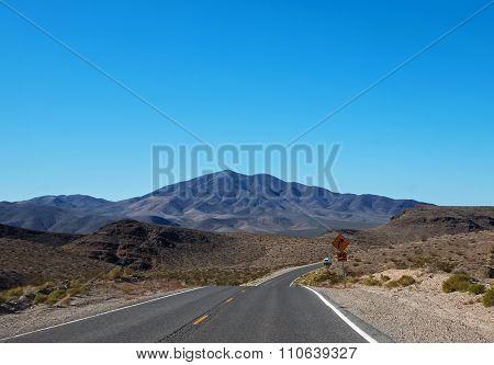 Highway Across Desert Hills