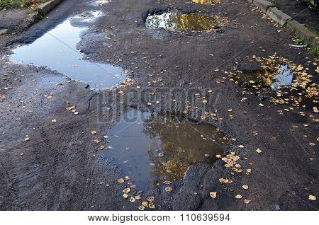 Large Pit With Asphalt