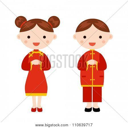 New Year _children, chinese