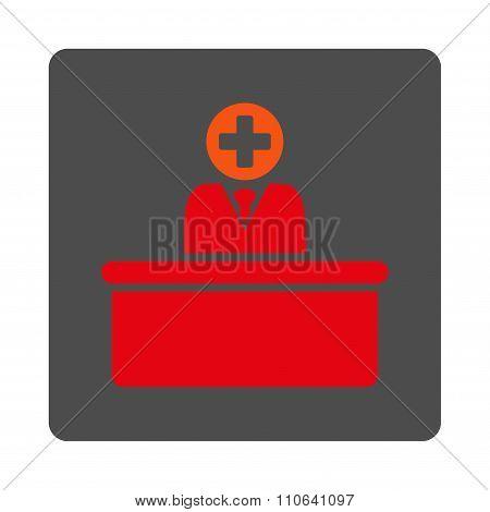 Medical Bureaucrat Flat Button