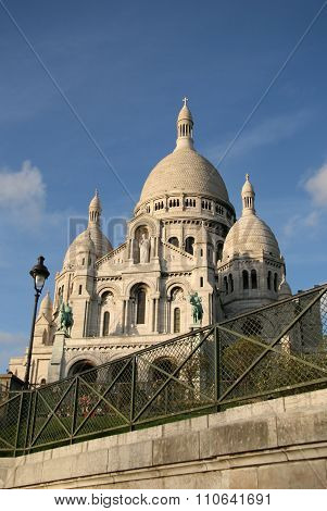 Paris, France - November 27, 2009: Basilica Of The Sacred Heart Of Paris (sacre-coeur) That Is A Rom