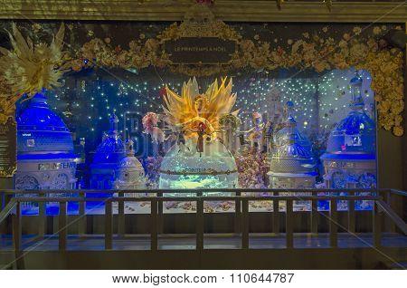 Fantastic Scene In Showcase. Paris, France.