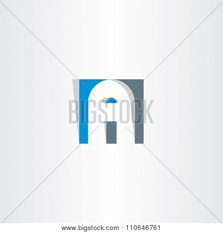 Letter A In Square Vector Logo A