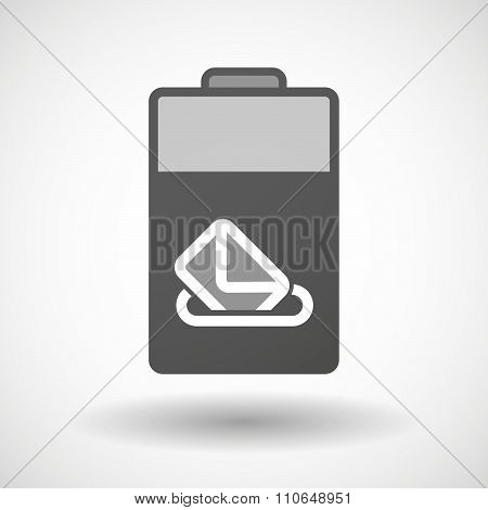 Isolated Battery Icon With  A Ballot Box